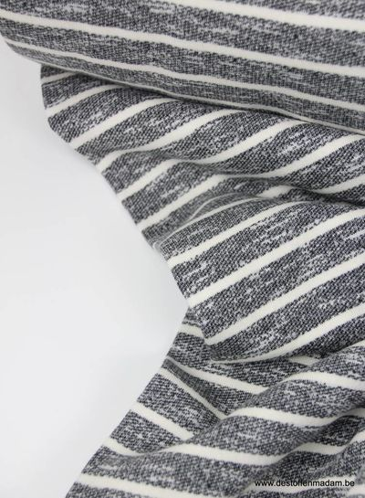 dark grey stripes - cotton jogging S
