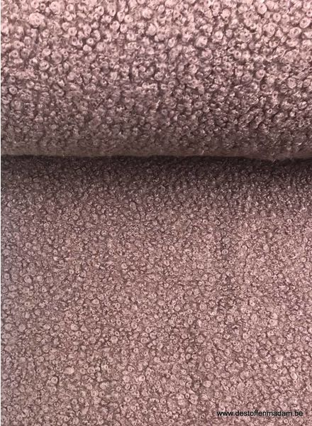 old pink boucle - Italian quality