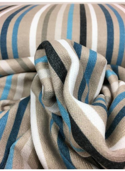 knit viscose with vertical stripes (blue) - TOP quality