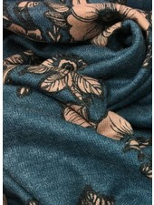 knit viscose with large flowers - TOP quality