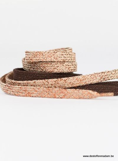 See You at Six Shoelaces - Brown with Copper Lurex