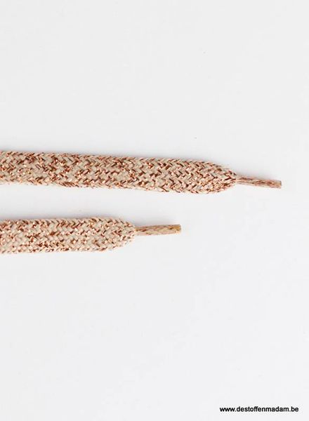 Shoelaces - Grayed Pink with Copper Lurex