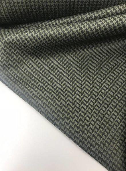 khaki tweed look - suede scuba