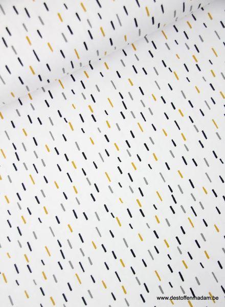 white little stripes - jersey