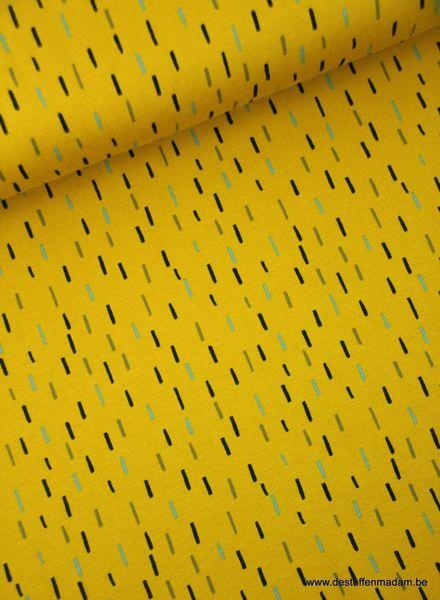 kleine streepjes oker - tricot