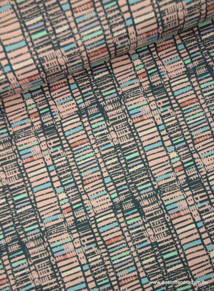 roze gekleurde blokjes - tricot