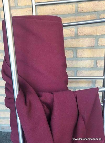 A La Ville Burgundy cr�Ã�ªpe fabric - Nathan S