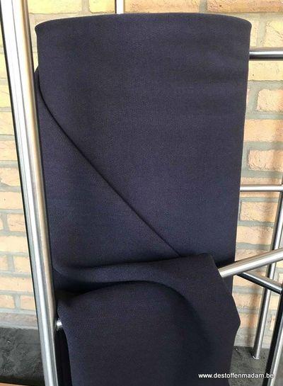 A La Ville navy crepe fabric - Nathan