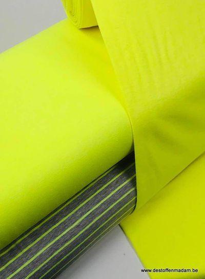neon yellow -ribbing