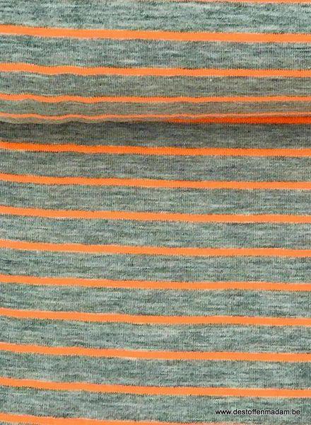 neon oranje strepen - tricot