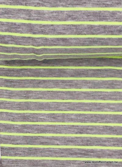 neon yellow stripes - jersey