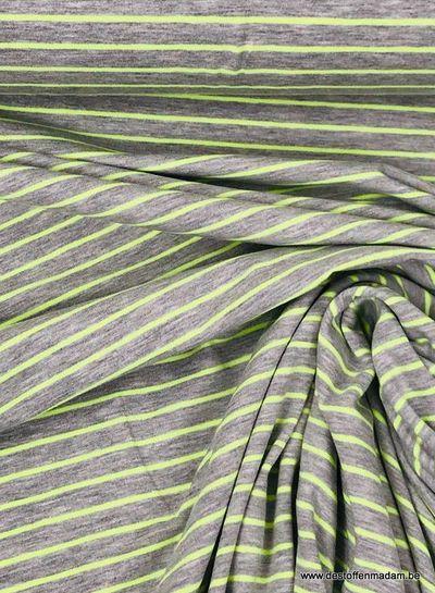 neon geel strepen -  tricot