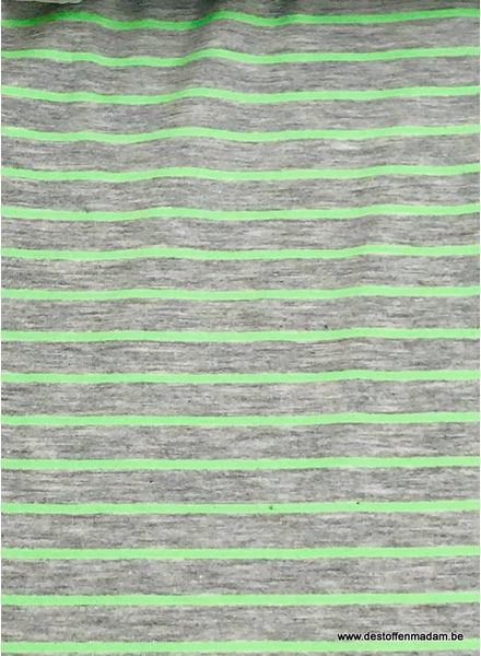 neon green stripes - jersey