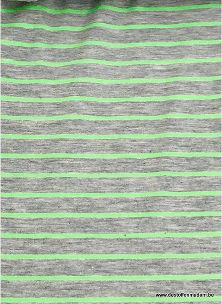 neon groen strepen - tricot
