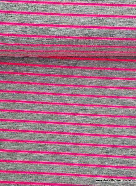 neon pink stripes - jersey