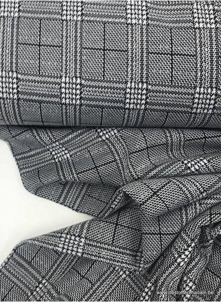 grijs prince de galles - structuur tricot