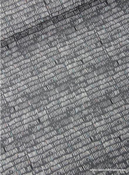 grijs streepjes - katoen S