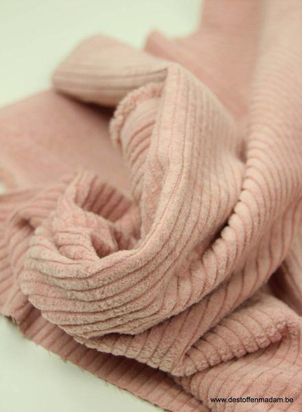 baby pink corduroy/ribfluweel