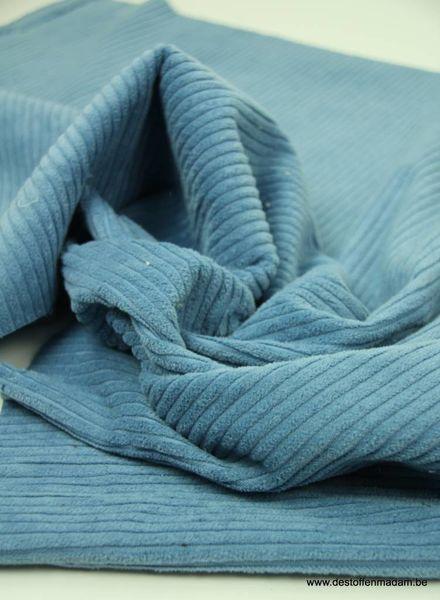 babyblauw corduroy/ribfluweel S