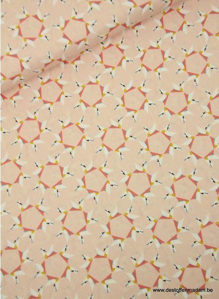 roze origami zwanen - katoen