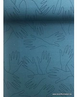 Lotte Martens -Hands Mineral Blue - French Terry