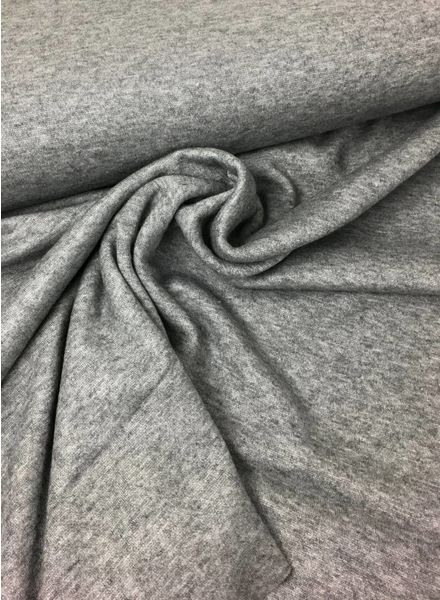 grey viscose sweater - double knitted - extreme soft