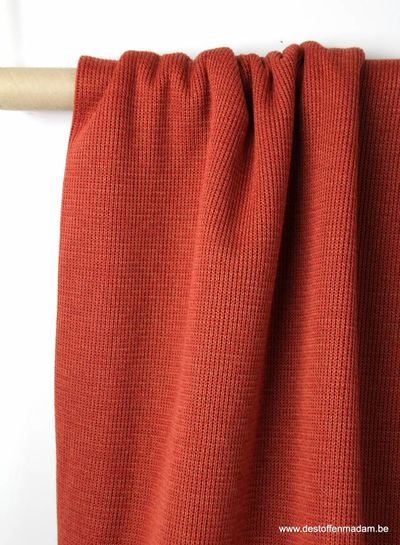 burgundy knitted fabric