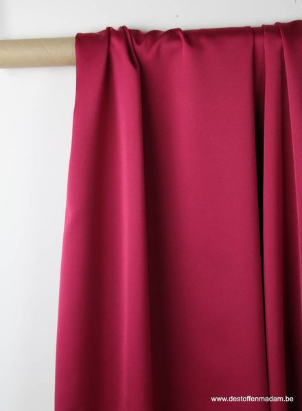 cherry red - satin - Julia dress