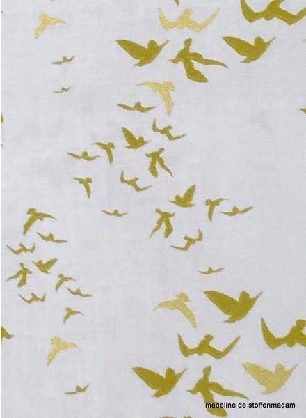 Camelot fabrics mint up up & away katoentje