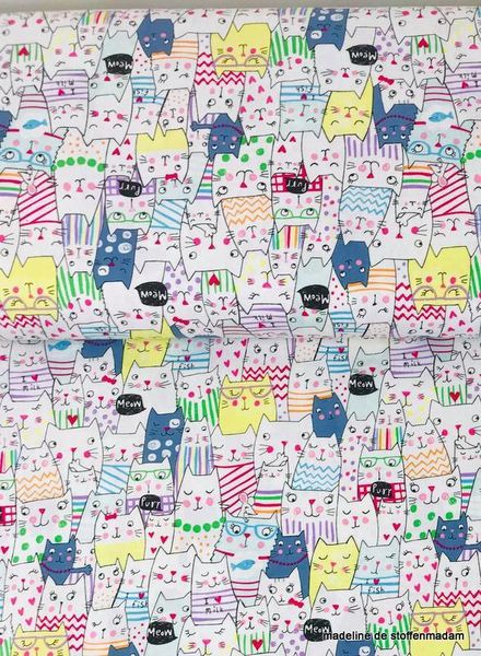 Timeless Treasures Fabrics funny cats coton