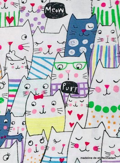 Timeless Treasures Fabrics funny cats coton