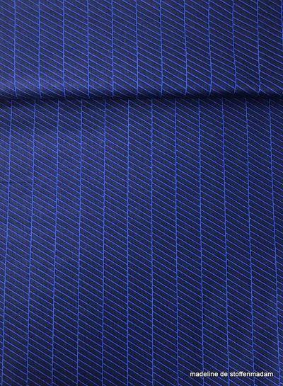 blue diagonals - coton