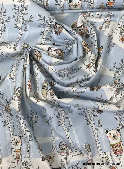 3Wishes fabrics woodland tribe katoen