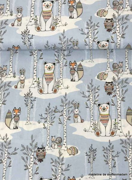 3Wishes fabrics woodland tribe coton