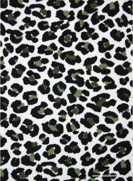 luipaard print khaki - tricot