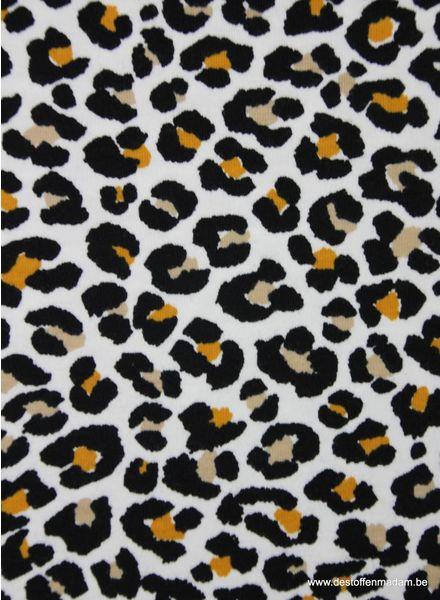 oker luipaard print - tricot