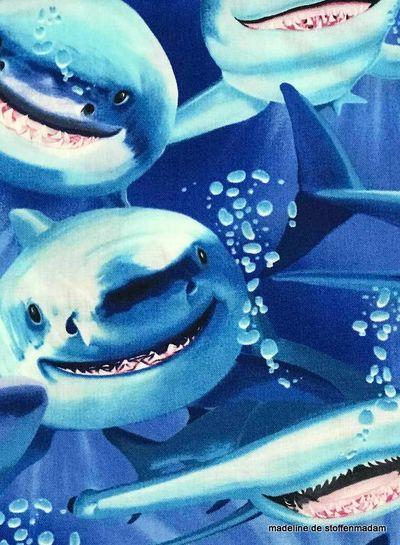 Timeless Treasures Fabrics shark attack - cotton