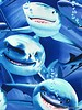 Timeless Treasures Fabrics shark attack - katoen