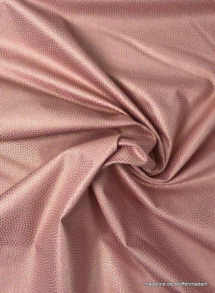 Timeless Treasures Fabrics spin metallic roze - katoen