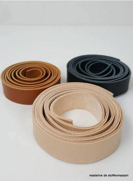 natural leather handles - 19 mm