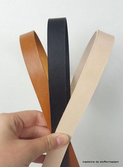 black leather handles - different sizes