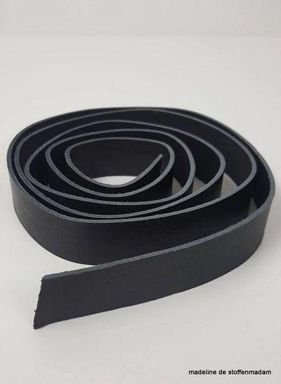 zwarte echte lederen riem - verschillende lengtes