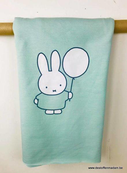 Miffy mint - panel sweat fabric