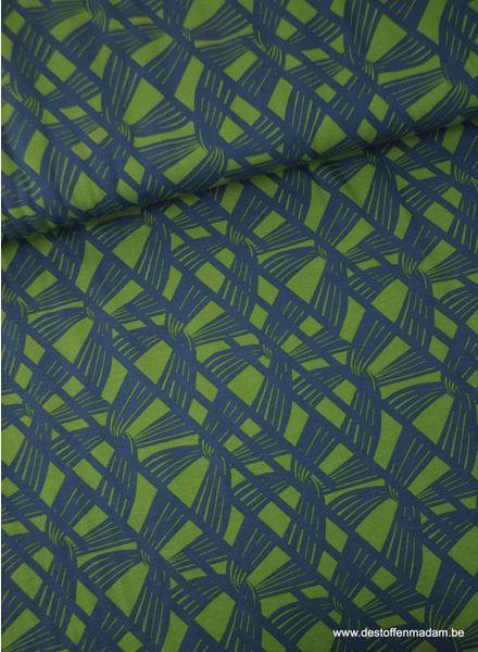 blauw/groen net - tricot