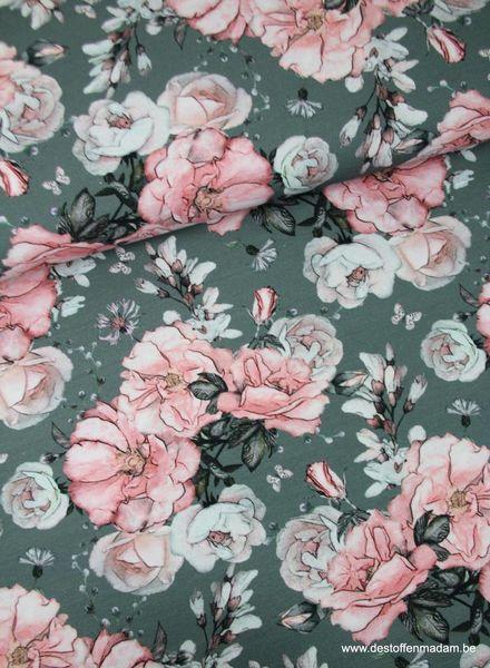 antieke rozen roze - tricot