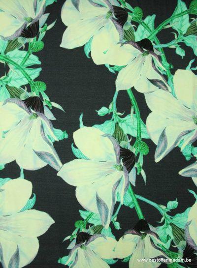 groene digitale print - viscose tricot
