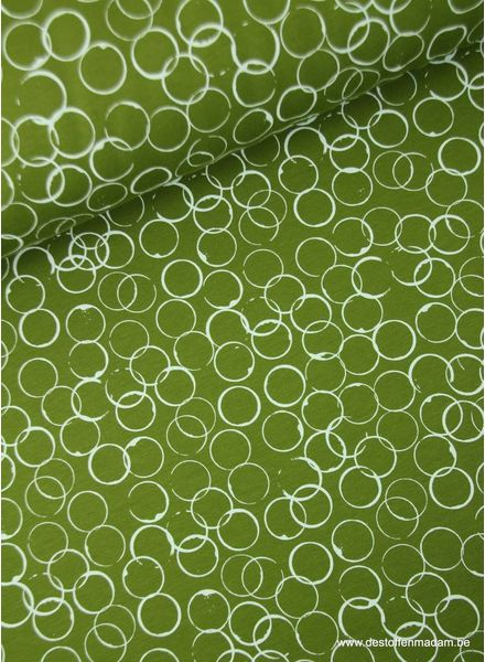 circles moss green - sweater S