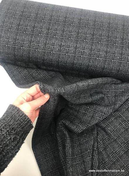 antracite prince de galles - textured knit S