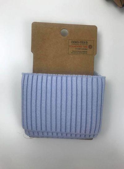 cuff met ribbels - lichtblauw