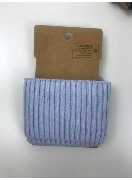ribbed cuff - light blue